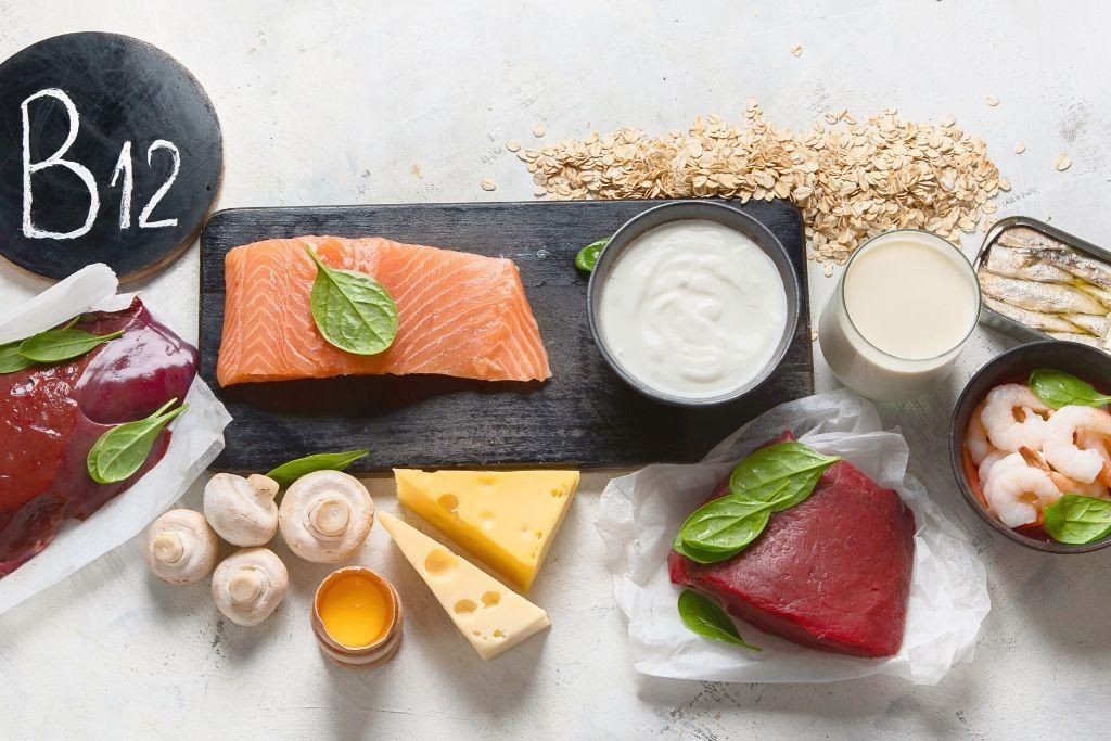 Eläinkunnan tuotteita, joissa on B12-vitamiinia